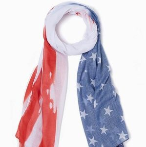 USA Patriotic Stars and Stripes Oblong Scarf